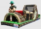 72ft Army Man Inflatable Obstacle Course | 3MonkeysInflatables.com