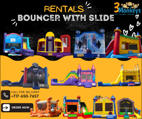Bouncer with Slide Rentals near me York