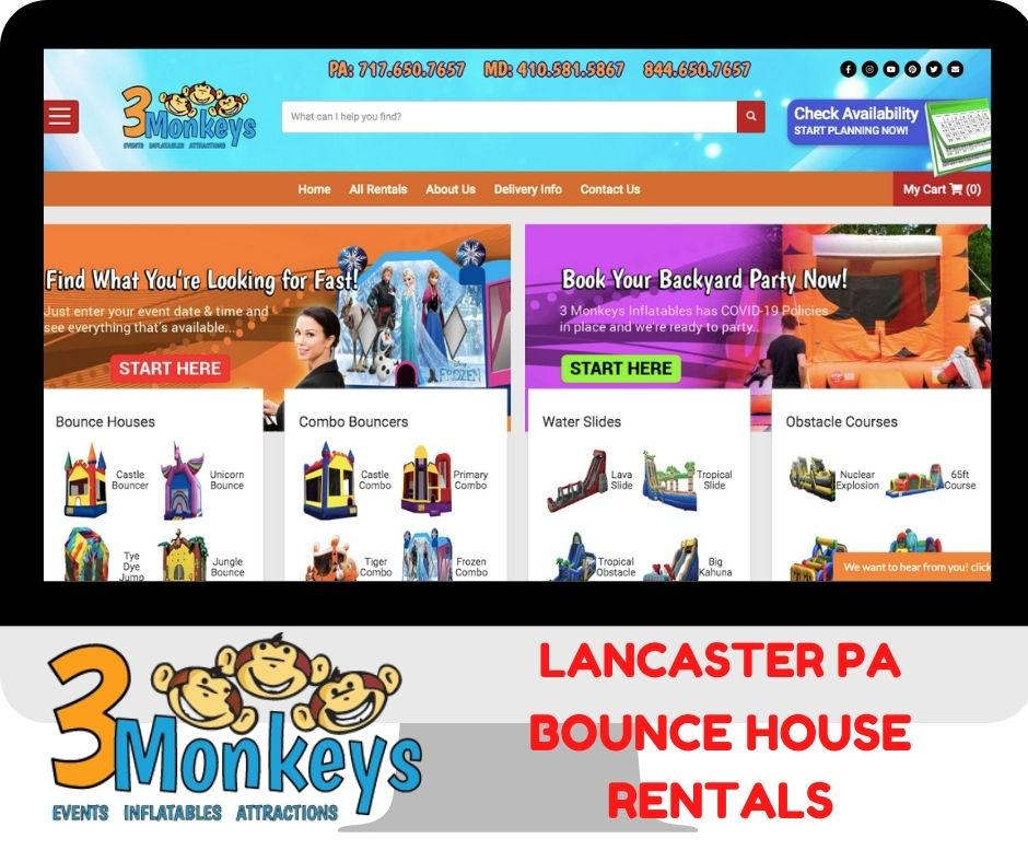 Lancaster Bounce House and Water Slide Rentals Near Me