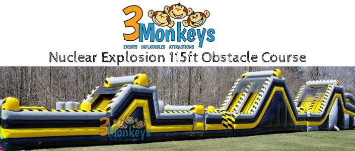 Nuclear 115ft Obstacle Course Rental near me