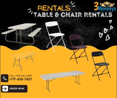 Table & Chair Rentals York near me