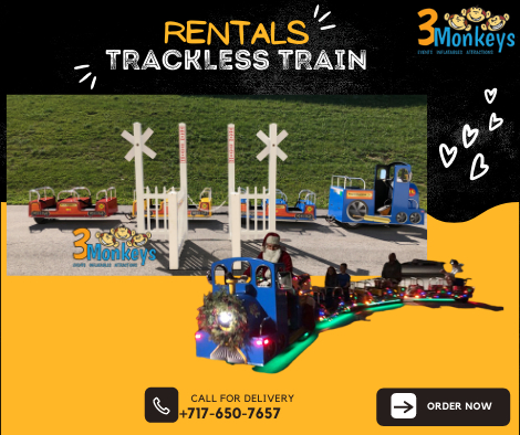 Trackless Train for Rent York near me