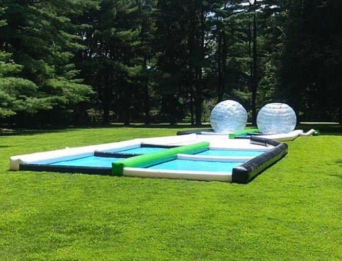 Zorb Ball Rental with track for Graduation Parties near me