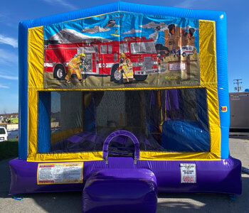 Fire Truck Combo Bounce House