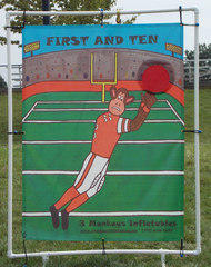 First and Ten Football Toss Carnival Game #540
