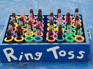 Bottle Ring Toss Bin Game