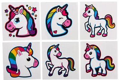 Unicorn Tattoos 72 count