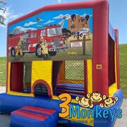 Fire Truck Bounce House (#25)  16.4Lx15.4Wx13H | 7.5amps