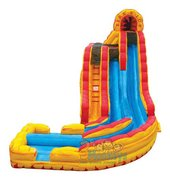 Fire n Ice 21ft Waterslide (#62) Size 32L X 19W X 21H   ***2 PLATFORM HEIGHTS***
