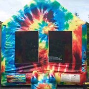 Tie Dye Bounce House (#22)  15Lx15Wx13H | 6.9amps