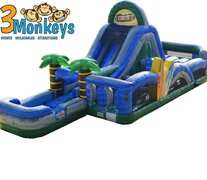 Tropical Obstacle and Water SlideSize 40L X 16W X 16H ***NEW ITEM ALERT***