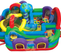 Wacky World Inflatable Obstacle Course (#37) 29Lx28Wx12H | 12 and 7 amps