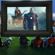 Inflatable backyard Movie Screen