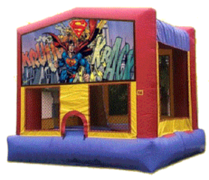 Superman Bounce House (#25)  16.4Lx15.4Wx13H | 7.5amps