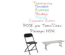 Tables and Chairs for 48