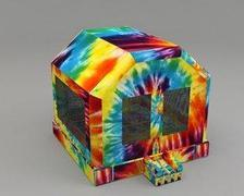 Tie Dye Bounce House (#22) <br> 15Lx15Wx13H | 6.9amps