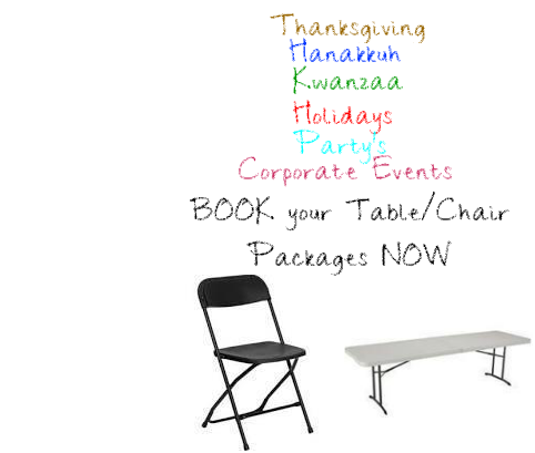 Tables & Chairs Package for 16