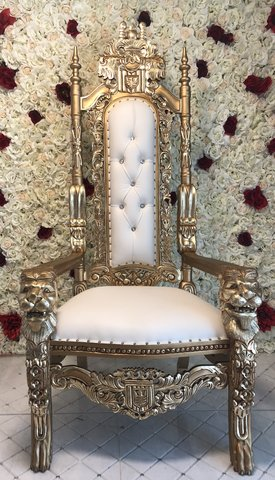 Gold Throne Chair Small