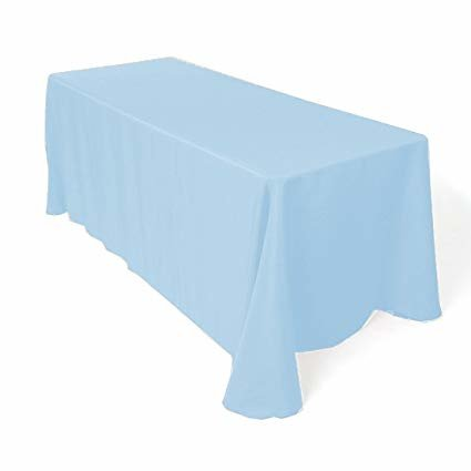 baby blue rectangular floor linen for 6ft