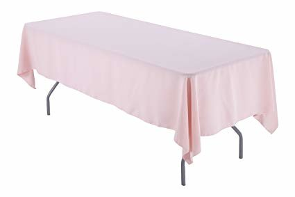 blush pink rectangular halfway linen for 6ft and 8ft
