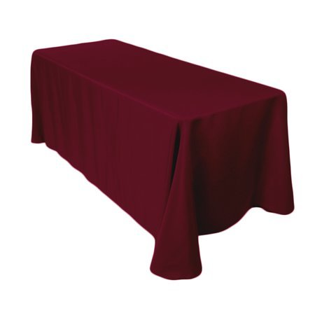 burgundy rectangular floor linen for 6ft