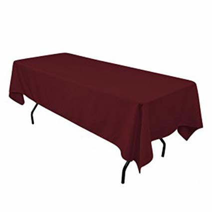burgundy rectangular halfway linen for 6ft and 8ft