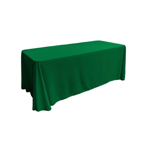 emerald green rectangular floor linen for 8ft