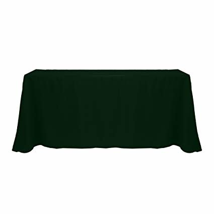 forest green rectangular floor linen for 8ft