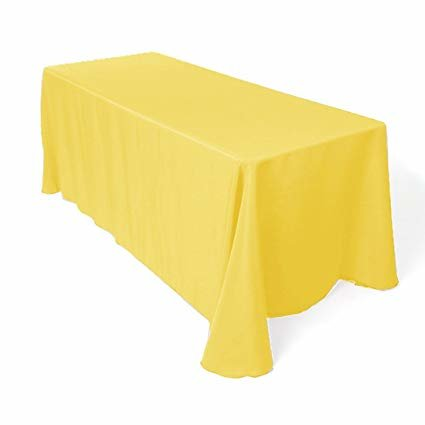 lemon yellow rectangular floor linen for 6 ft