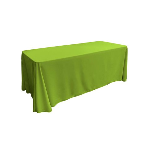 lime green rectangular floor linen for 8 ft