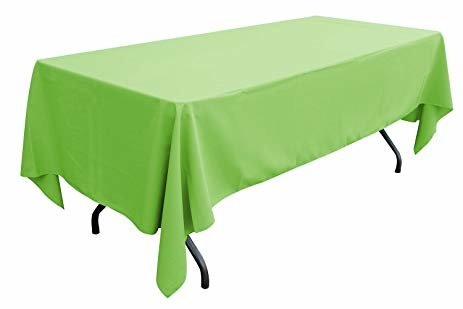 lime green rectangular halfway linen for 6 ft and 8 ft