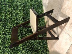 PADDED FRUITWOOD FOLDING CHAIRS