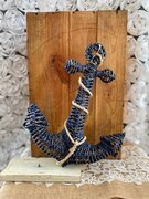 Navy Blue woven anchor 12""
