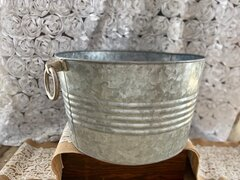 galvanized circular tub 1'x2'