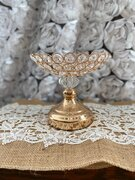 Small Gold crystal holder 6""