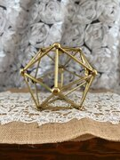 Gold Polygon decoration 6""