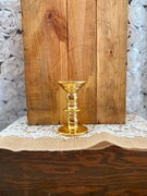 Small Gold candle holder 8""