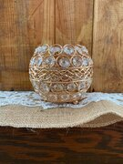 Rose Gold crystal Candle Holder 3""