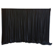 BLACK BACKDROP 10' LONG X 7' HIGH