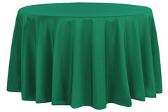 "emerald green 120"" and 108"" linen"