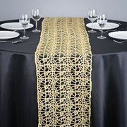 Gold Chemical Lace Runner