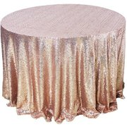 "Blush Sequin 132"" Linen"
