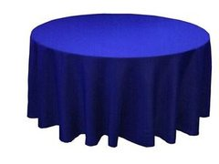 "royal blue 132"" linen"