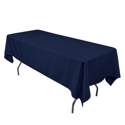 navy blue rectangular halfway linen for 6 ft and 8 ft