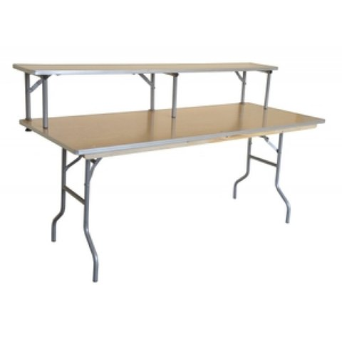 table bar 6' with black skirt