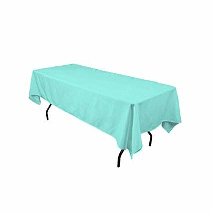 Tiffany blue rectangular halfway linen for  6 ft and 8ft