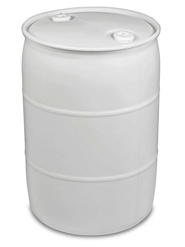 white barrels  water