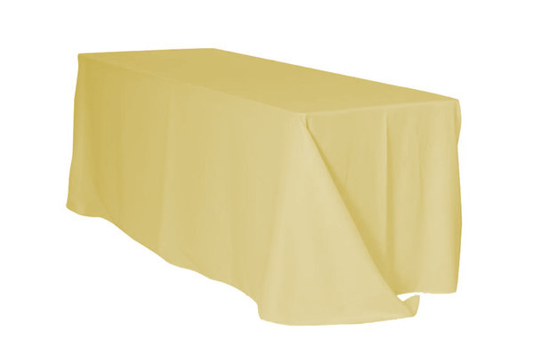 yellow rectangular floor linen for 6 ft