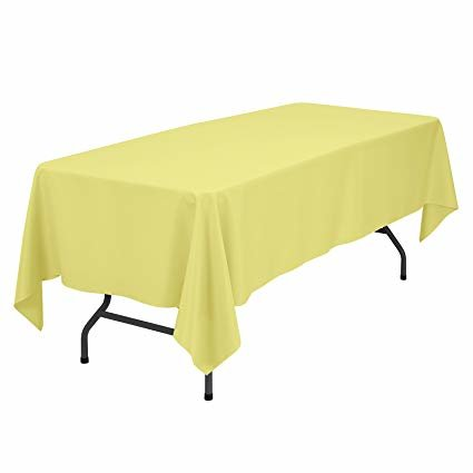 yellow rectangular halfway linen for 6 ft and 8 ft