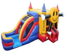 58 Wet/Dry Happy-Face-Bounce-House-5in1